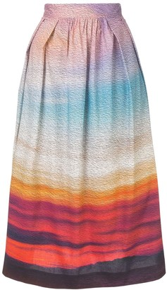 Mary Katrantzou gradient A-line skirt