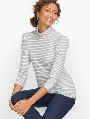 Talbots Ribbed Stripe Turtleneck
