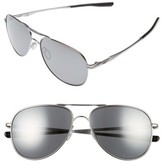 Oakley Women's Elmont 58Mm Polarized Aviator Sunglasses - Chrome/ Grey P