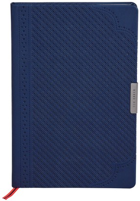 Ted Baker A5 Brogue Geo Notebook -Navy
