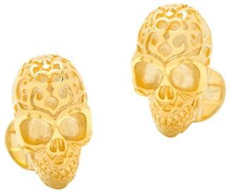 Cufflinks Inc. 18K Gold Vermeil Fatale Skull Cuff Links