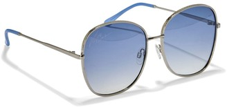 Vince Camuto Textured-frame Oversize Sunglasses