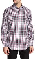 Thomas Dean Check Print Long Sleeve Shirt