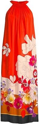 Kobi Halperin Coral-Printed Midi Dress
