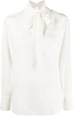 Brunello Cucinelli Pussy-Bow Blouse