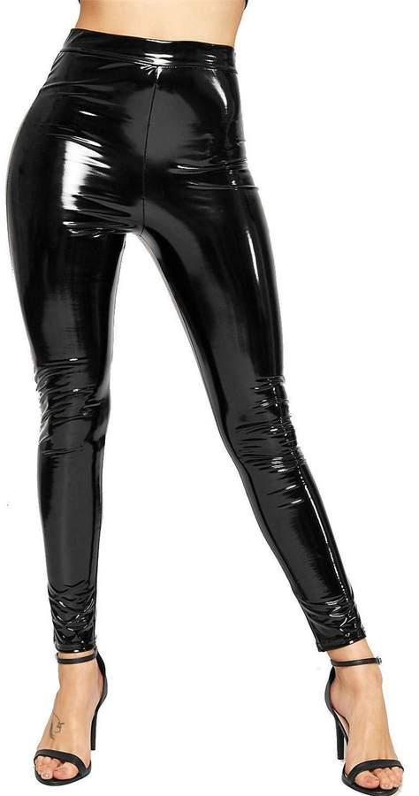 1ab9610c09b2e3 Black Wet Look Leather Pants - ShopStyle Canada