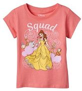 "Disney Disney's Beauty & The Beast Belle, Cogsworth & Lumiere Toddler Girl ""Squad"" Tee"