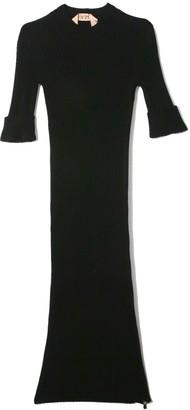 No.21 Knit Short Sleeve Dress in Black