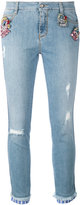 Ermanno Scervino denim crystal-embellished jeans