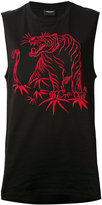 Marcelo Burlon County of Milan oversized tiger tank top - women - Cotton/Polyester - XS