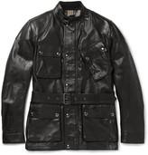Belstaff Panther Slim-fit Belted Leather Jacket - Black