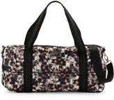 Nicole Miller City Life Leopard-Print Medium Duffle Bag, Shocking Leopard/Black