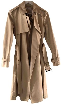 MANGO Beige Cotton Trench Coat for Women