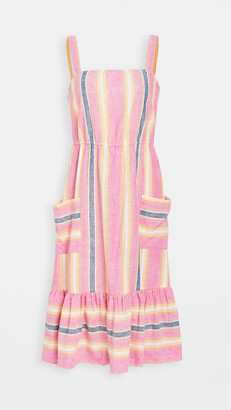 BB Dakota Pink Lemonade Linen Stripe Dress