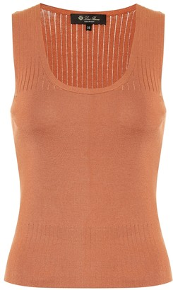Loro Piana Tangery silk and cotton knit tank top