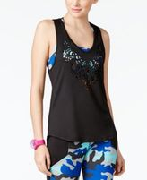 Energie Active Juniors' Laura Layered-Look Laser-Cut Tank Top