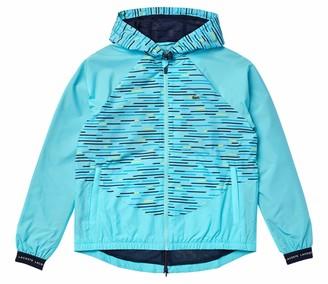 Lacoste Women's Sport Tennis Full Zip Printed Hooded Jacket