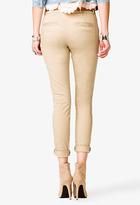 Forever 21 Belted Cigarette Pants