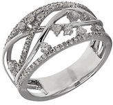 Lord & Taylor Diamond and 14K White Gold Abstract Ring
