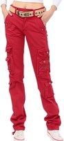 ChouyatouWomen's Casual Loose Fit Multi-Pockets Work Cargo Pants