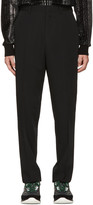 Lanvin Black Wool Worker Trousers