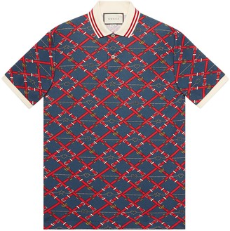 Gucci Oversize printed polo