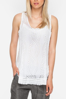Johnny Was Eyelet Embroidered Tank
