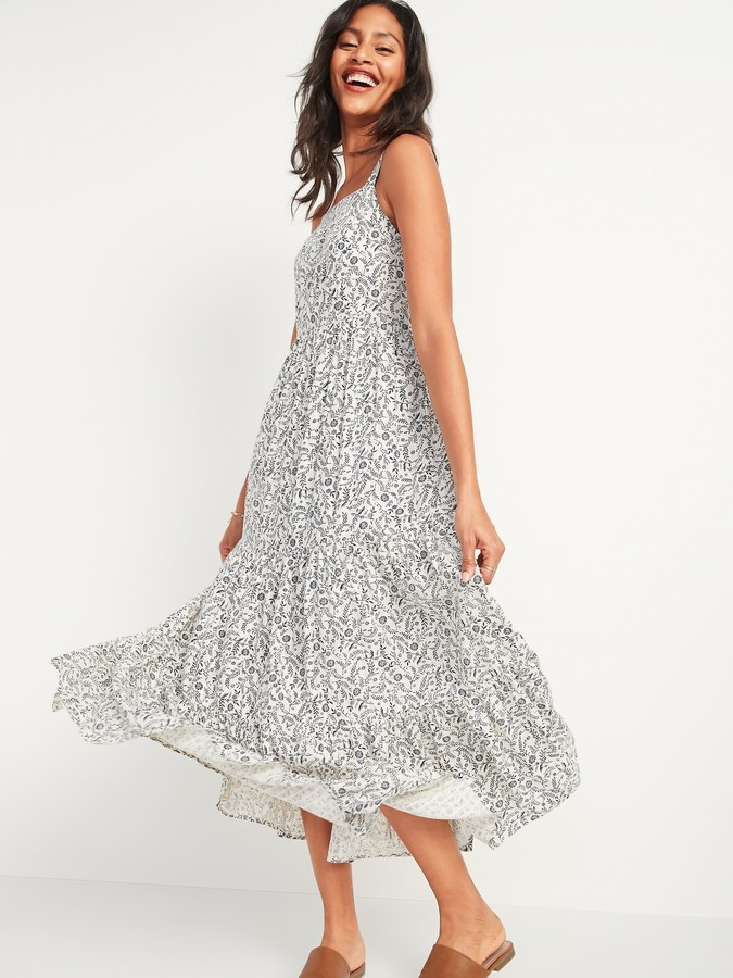 Old Navy Floral-Print Fit & Flare Cami Maxi Dress