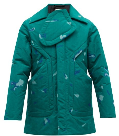 1731f6897 Kiwa Chest Panel Printed Jacket - Mens - Green