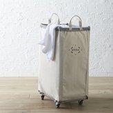 Crate & Barrel Steele ® Vertical Canvas Laundry Bin