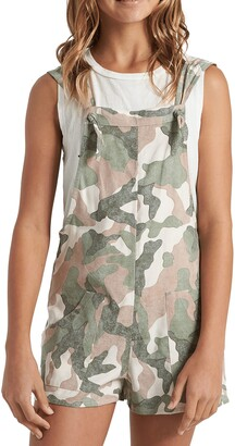 Billabong Kids' Running Wild Camo Shortalls