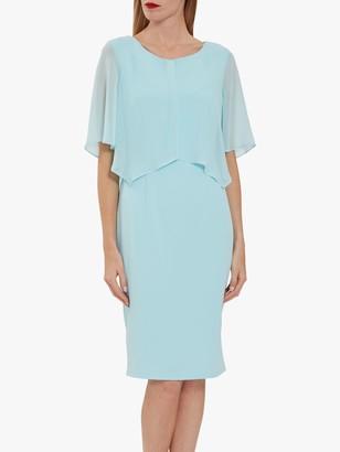 Gina Bacconi Wanita Chiffon Cape Dress