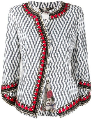 Bazar Deluxe Herringbone Print Tweed Jacket
