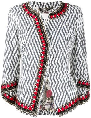 Bazar Deluxe Herringbone Print Tweed Jacket