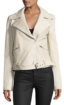 A.L.C. Duvall Leather Moto Jacket, Stucco