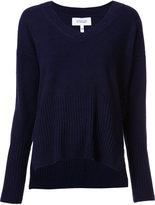 Derek Lam 10 Crosby cashmere V-neck ribbed detailing jumper - women - Cashmere - XS