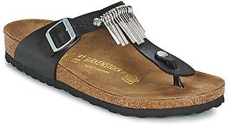 Birkenstock GIZEH FRINGE women's Flip flops / Sandals (Shoes) in Black
