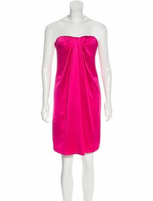 Alexander McQueen Silk Strapless Dress
