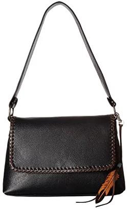 M&F Western Tegan Conceal Carry Shoulder Bag (Black/Tan) Shoulder Handbags
