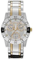 Relic® Beth Ladies' 34.5mm Crystal-Accented Subdial Watch in Rose Two-Tone Stainless Steel
