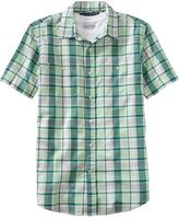Old Navy Men's' Plaid Regular-Fit Chest-Pocket Shirts