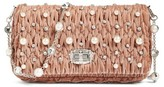 Miu Miu Velluto Crystal Embellished Crossbody Clutch - Orange