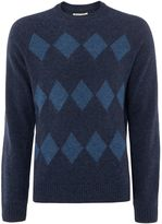 Original Penguin Argyle Lambswool Crew-neck Jumper