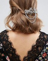 Asos Embellished Jewel & Chain Hair Clip