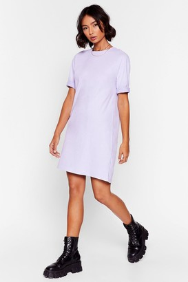 Nasty Gal Womens Won't Wash With Me Oversized Tee Dress - Lilac