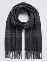 M&S Collection Herringbone Checked Woven Scarf