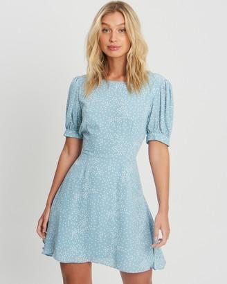 Savel - Women's Blue Mini Dresses - Court Mini Dress - Size 6 at The Iconic