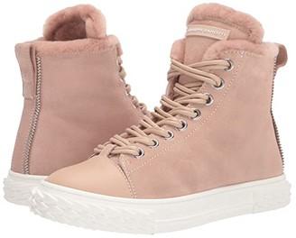 Giuseppe Zanotti Blabber Suede Shearling Lined Sneaker (Unerose) Women's Shoes