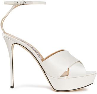 Sergio Rossi Satin-crepe Platform Sandals