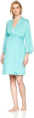 Belabumbum Women's Luxe Cotton Maternity/Nursing Nightie + Matching Robe Set